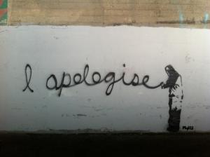 Apology - Street Art