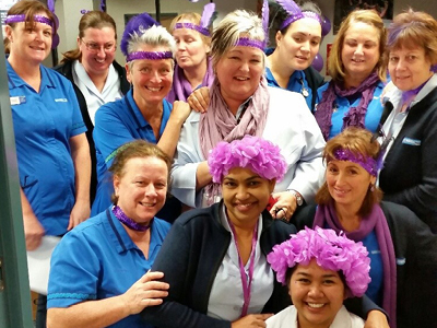 NZNO members paint the country purple on 28 May